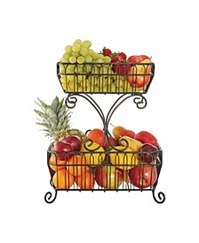 French Countryside 2 Tier Flatback Basket no handle