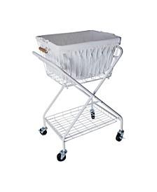 Verona laundry basket with cart