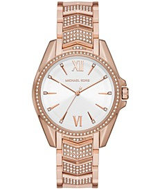 Whitney Three-Hand Rose Gold-Tone Stainless Steel Watch