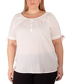 Women's Plus Size Raglan Blouse