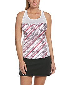 Grand Slam by Striped Racerback Tank Top