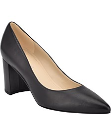Claire Block-Heel Pumps