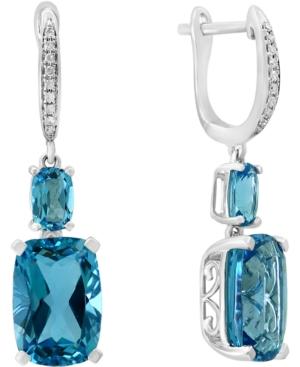 Swiss Blue Topaz (11-1/10 ct. t.w.) & Diamond (1/20 ct. t.w.) in 14k White Gold