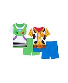 Toddler Boys 4 Piece Pajama Set