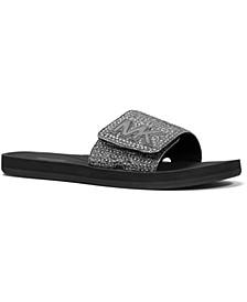 MK Signature Logo Pool Slide Sandals