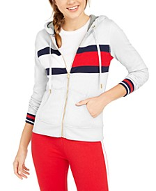 Colorblocked Zippered Hoodie