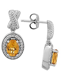 Citrine (1-5/8 ct. t.w.) & White Topaz (1/4 ct. t.w.) Drop Earrings in Sterling Silver