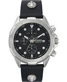 Men's Chronograph 6E Arrondissement Black Leather Strap Watch 46mm
