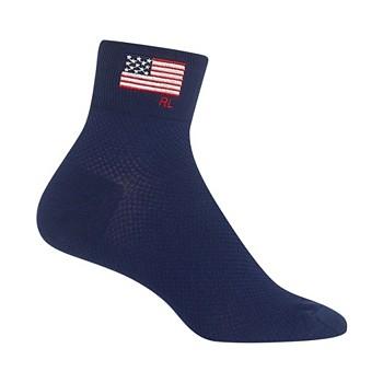 Polo Ralph Lauren Women's Flag Embroidered Ankle Socks