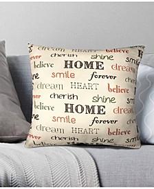 Inspire Decorative Pillow, 18 x 18