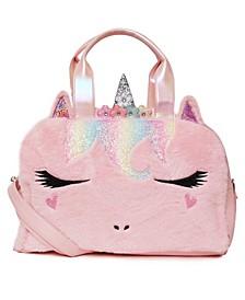 Big Girls Flower Crown Miss Gwen Plush Unicorn Duffle Bag