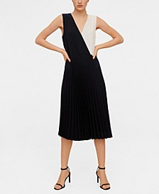 Pleated Bicolor Dress