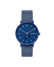 Men's Aaren Kulor Dusty Blue Silicone Watch 41mm