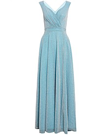 Sleeveless Glitter Gown