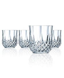 Cristal D'Arques Double Old Fashioned Glasses 10.75 oz 4 Piece Set