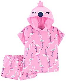 Toddler Girls 2-Pc. Flamingo Pajamas Set