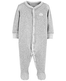 Baby Boys or Girls 1-Pc. Gray Cloud Cotton Coverall