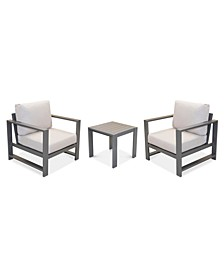 Aruba Outdoor 3-Pc. Set (2 Club Chairs & 1 End Table), Created for Macy's