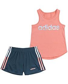 Baby Girls 2-Pc. Tank Top & Striped Shorts Set