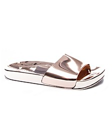 My Fav Metallic Women's Poolslide Sandal