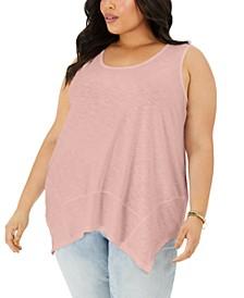 Plus Size Sleeveless Handkerchief-Hem Top, Created for Macy's