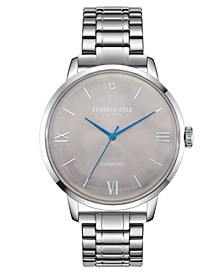 Men's Three Hand Classic Watch with a Diamond Dial 42mm