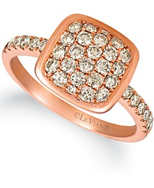 Nude Diamond Cluster Ring (3/4 ct. t.w.) in 14k Rose Gold