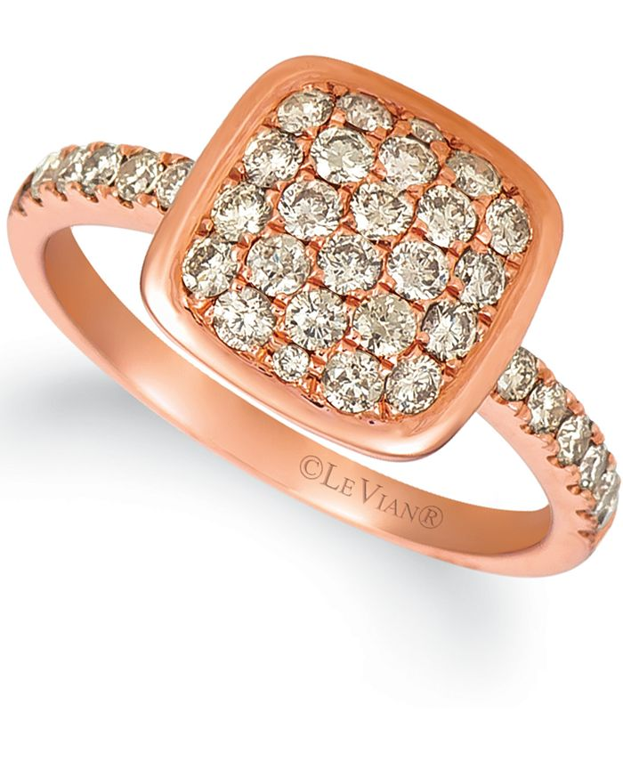 Le Vian - Nude Diamond Cluster Ring (3/4 ct. t.w.) in 14k Rose Gold