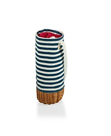 Malbec Insulated Canvas and Willow Wine Bottle Basket