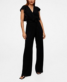 Frilled Long Jumpsuit