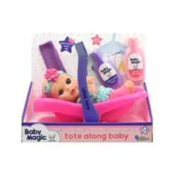 Baby Magic Tote Along Baby Bath Set with Toy Baby Doll Scented