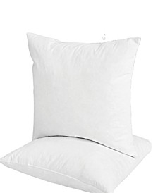 2-Pack Feather & Down Pillow Inserts, 20x20 Square