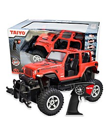 Taiyo 1-16 Scale 2.4Ghz Jeep Rubicon Remote Control Truck with Battery, Electric Charger, and Handset for Offroad