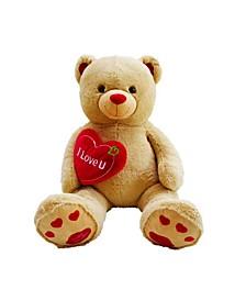 "Jumbo 48"" Plush Teddy Bear with ""I Love You"" Heart"