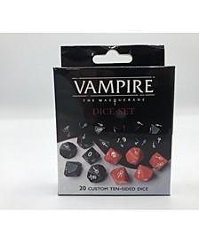 Vampire- The Masquerade Dice Set 20 Custom 10-Sided Dice