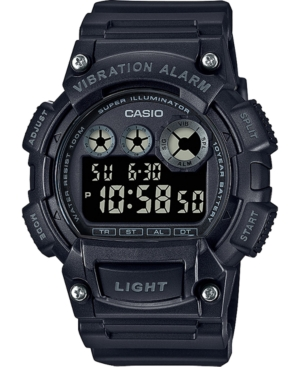 Men's Digital Blackout Black Resin Strap Watch 44mm