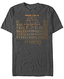 Men's Star Wars Golden Rule Periodic Table of Characters Short Sleeve T-shirt