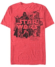 Men's Star Wars Character Collage Short Sleeve T-shirt