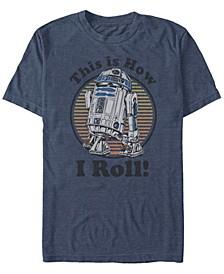 Men's Star Wars C-3PO R2-D2 Besties Badge Short Sleeve T-shirt
