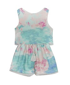 Toddler Girls Tie Dye Romper