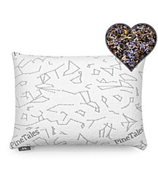 Aromatherapy Lavender and Buckwheat Hulls Pillow with Skin Friendly Designer Bamboo Pillowcase