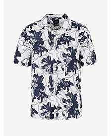 Men's Short Sleeve Hibiscus Floral Shirt