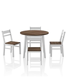 Calla 5 Piece Round Dining Table Set
