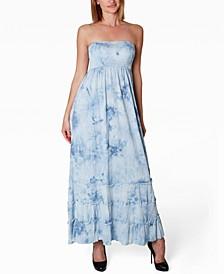 Juniors' Strapless Maxi Dress
