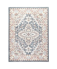 "Barnes Bar03 Blue and Ivory 9'2"" x 12'5"" Area Rug"