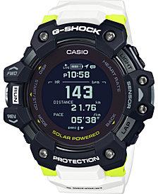 G-Shock Men's Solar Digital Connected Power Trainer White Resin Strap Watch 55mm