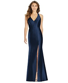 Satin Halter Gown