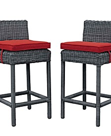 Summon Outdoor Patio Sunbrella Pub Set 2 Piece