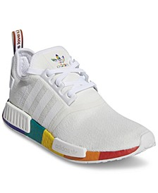 Men's NMD R1 Pride Casual Sneakers from Finish Line