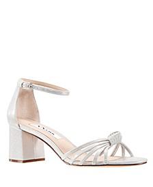 Nidiah Satin Block Heel Sandal